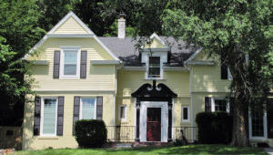 The Colonial Revival-style home at 331 Park Ave. once housed John T. Oliver, an early pioneer and one of the city's leading businessmen. His wife, Isabella, lived in the home after he died in 1910. Their daughters, Blanche Welsh and Elizabeth Gleason, sold the property to Harry Searle Jr. in 1930, who added the second story.
