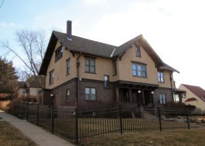 Florence Folsom, daughter of Jeremiah Folsom, and Frank Everest were married in 1894 in Council Bluffs, and built their home in 1908 at 125 Third St.